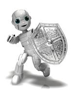 盾を持つ少年ロボット