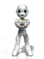 若芽を持つ少年ロボット