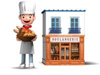 パン屋さんと店舗
