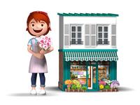 花屋さんと店舗