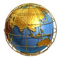 ゴールド地球アジア