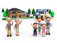 親と子の二所帯と家