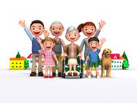三世代家族と犬と介護