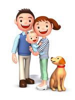 夫婦と赤ちゃんと飼犬