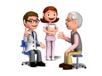患者に説明する医師と看護師
