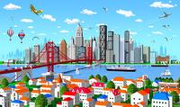 街と橋と高層ビル