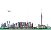 東京の街並み2白バック 10734000112| 写真素材・ストックフォト・画像・イラスト素材|アマナイメージズ