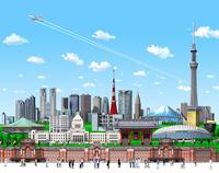 新東京ランドマークと人 10734000116| 写真素材・ストックフォト・画像・イラスト素材|アマナイメージズ