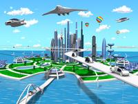 スマートシティ海 10734000124| 写真素材・ストックフォト・画像・イラスト素材|アマナイメージズ