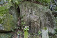 藪の中三尊磨崖仏