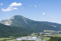 横山城跡から望む伊吹山,滋賀県