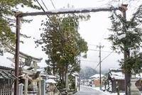 勧請吊り(伊庭の水辺景観) 10737000363| 写真素材・ストックフォト・画像・イラスト素材|アマナイメージズ