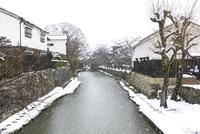 雪の八幡堀 10737000369| 写真素材・ストックフォト・画像・イラスト素材|アマナイメージズ