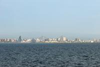 津軽海峡フェリーのデッキから望む青森市街