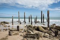 ポートウィランガ(Port Willunga)の朽ち果てた桟橋
