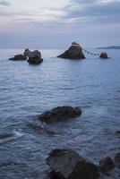 二見興玉神社の夫婦岩, 屏風岩, 烏帽子岩および獅子岩