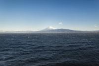 西伊豆より望む駿河湾越しの富士山