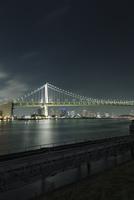 品川埠頭より望むレインボーブリッジ 10743000186| 写真素材・ストックフォト・画像・イラスト素材|アマナイメージズ