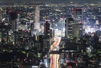 六本木ヒルズ展望台より望む夜の渋谷 10743000304| 写真素材・ストックフォト・画像・イラスト素材|アマナイメージズ