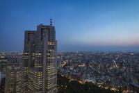 新宿住友ビルより望む都庁と東京の街並み 10743000305| 写真素材・ストックフォト・画像・イラスト素材|アマナイメージズ
