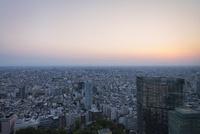 都庁展望台より望む東京の夕景 10743000307| 写真素材・ストックフォト・画像・イラスト素材|アマナイメージズ