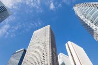 見上げる新宿の高層ビル群 10743000337| 写真素材・ストックフォト・画像・イラスト素材|アマナイメージズ