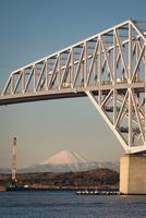 若洲海浜公園より望む東京ゲートブリッジと富士山 10743000388| 写真素材・ストックフォト・画像・イラスト素材|アマナイメージズ