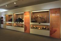 タンロン皇城のホアンジェウ通り18番地の発掘調査現場の博物館