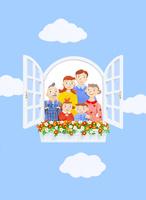 二世帯住宅 10757000960| 写真素材・ストックフォト・画像・イラスト素材|アマナイメージズ