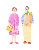 老夫婦の買い物