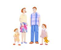 家族4人 10757000994| 写真素材・ストックフォト・画像・イラスト素材|アマナイメージズ