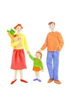 家族3人 10757001005| 写真素材・ストックフォト・画像・イラスト素材|アマナイメージズ