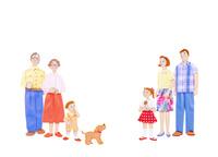 二世帯家族 10757001034| 写真素材・ストックフォト・画像・イラスト素材|アマナイメージズ