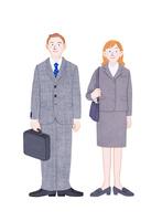男女の新入社員 10757001059| 写真素材・ストックフォト・画像・イラスト素材|アマナイメージズ