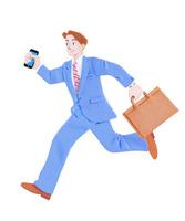 走るビジネスマン 10757001064| 写真素材・ストックフォト・画像・イラスト素材|アマナイメージズ
