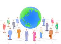 ビジネスマンとOLと地球