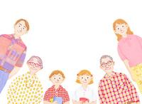 3世代家族 10757001134| 写真素材・ストックフォト・画像・イラスト素材|アマナイメージズ