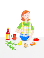 キッチンの若い女性 10757001148| 写真素材・ストックフォト・画像・イラスト素材|アマナイメージズ
