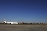 マラケシュ メナラ空港に着いた飛行機