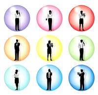 シルエット人物のビジネスイメージアイコン 10768000043| 写真素材・ストックフォト・画像・イラスト素材|アマナイメージズ