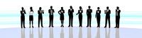 シルエット人物のビジネスイメージとライン 10768000046| 写真素材・ストックフォト・画像・イラスト素材|アマナイメージズ