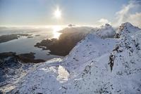 ロフォーテン諸島の空撮 10770000013| 写真素材・ストックフォト・画像・イラスト素材|アマナイメージズ