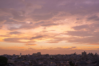 屋上から見た夕焼け