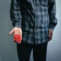 手のひらの中の薔薇