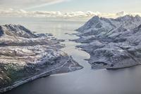 ロフォーテン諸島の空撮 10770000133| 写真素材・ストックフォト・画像・イラスト素材|アマナイメージズ