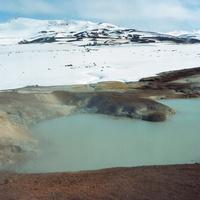 アイスランドの北部の地熱地帯レイルフニュクール
