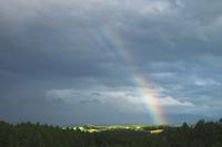 美瑛の丘と虹 10770000455| 写真素材・ストックフォト・画像・イラスト素材|アマナイメージズ