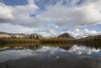 トゥームストーン準州立公園にある湖に反射し映り込む景色