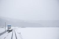 雪の車窓風景