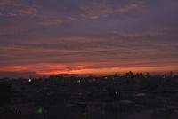 屋上からの夕景